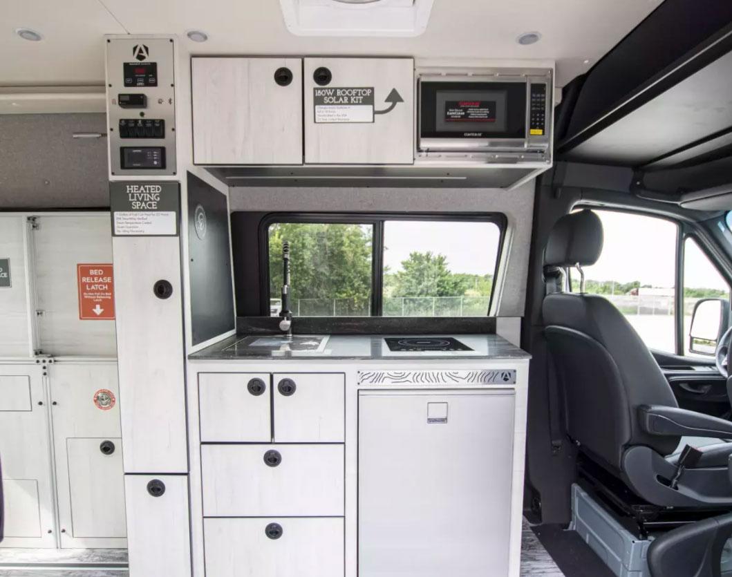 View of kitchenette inside Antero van